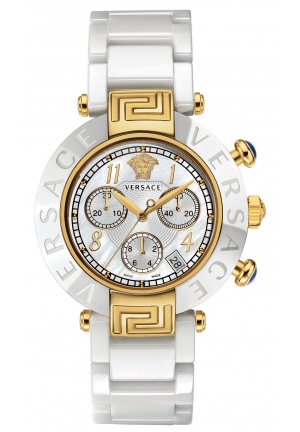VERSACE Swiss Chronograph Reve White Ceramic Bracelet 40mm