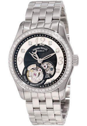 Armand Nicolet Women's 9653D-NN-M9150 LL9 Limited Edition Stainless Steel Classic Automatic Diamond-Studded Dress Watch