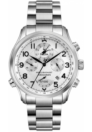 BULOVA Men's Chronograph Precisionist Stainless Steel Bracelet 39mm
