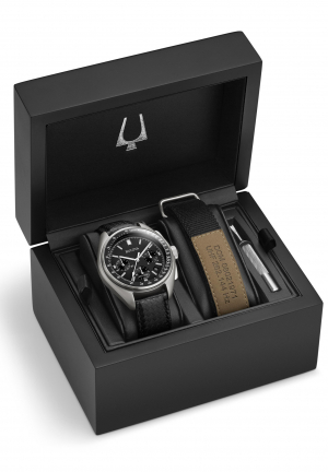 BULOVA SPECIAL EDITION MOON CHRONOGRAPH WATCH 45MM