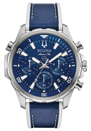 Marine Star Chronograph Blue Dial Men's Watch