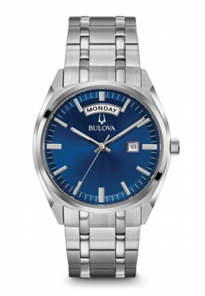Men's Stainless Steel Blue Dial Classic Watch