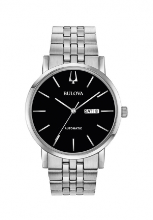 Classic Automatic Black Dial Stainless Steel Men's Watch