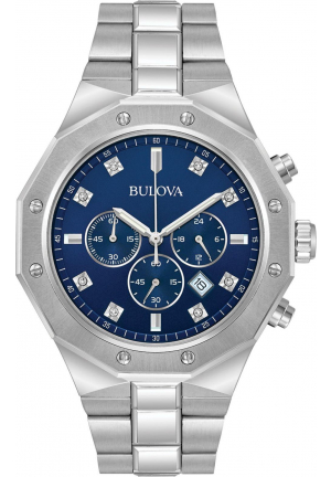 Diamond Chronograph Blue Dial Men's Watch