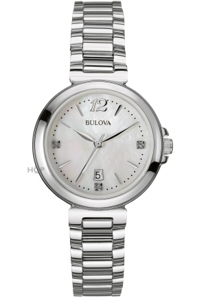 Ladies Bulova Diamond Gallery Watch 29mm