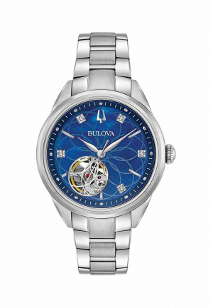Classics Automatic Blue Mother of Pearl Diamond Dial Ladies Watch