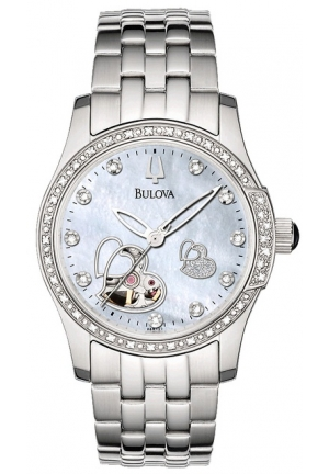 Bulova Accu·Swiss BULOVA Women's Diamond Accented Automatic Watch 33mm 96R122