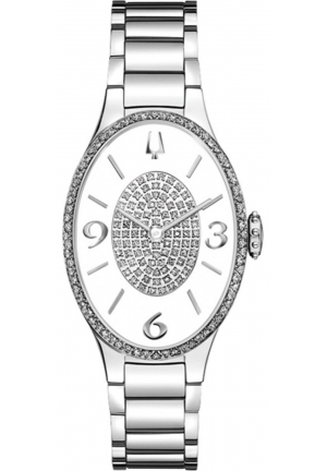 Bulova Diamond White Dial Stainless Steel Ladies Watch 25mm