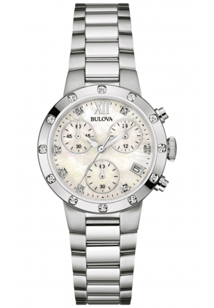 BULOVA DIAMOND CHRONOGRAPH STAINLESS STEEL WOMEN'S WATCH