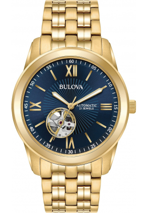 BULOVA OPEN HEART BLUE WATCH