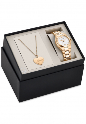 BULOVA WOMEN'S MOM PENDANT NECKLACE WATCH SET 35MM