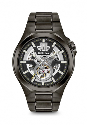Classic Automatic Gunmetal Skeleton Dial Men's Watch