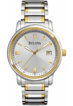 BULOVA Men's Dress Two Tone Stainless Steel Bracelet 40mm