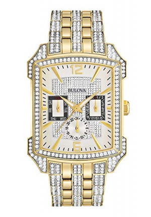 Bulova Crystal Chronograph Silver Dial Men's Watch
