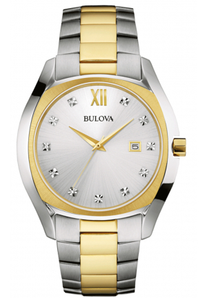 BULOVA DIAMOND TWO-TONE STAINLESS STEEL MEN'S WATCH