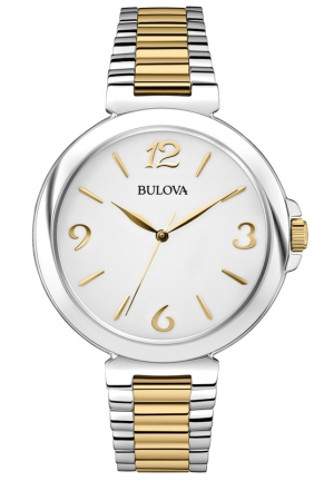 BULOVA Women's  Analog Display Japanese Quartz Two Tone Watch 38mm