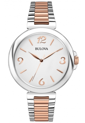 BULOVA Women's 98L195 Analog Display Japanese Quartz Two Tone Watch 38mm