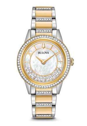 BULOVA CRYSTAL TURNSTYLE WATCH