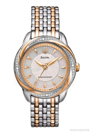 BULOVA Precisionist Brightwater Two tone Rose gold Watch 31mm