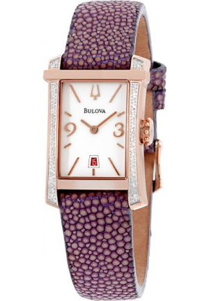 Bulova Women's Analog Display Quartz Purple Watch