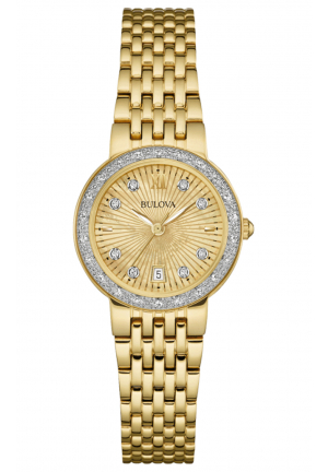 BULOVA DIAMOND GOLD-TONE STAINLESS STEEL WOMEN'S WATCH
