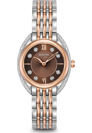 BULOVA DIAMOND CURVED LADIES WATCH 30MM