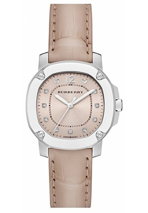 Burberry The Britain Diamond Dial Alligator Strap Watch Automatic 34mm