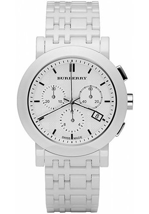 Chronograph White Ceramic Bracelet 40mm