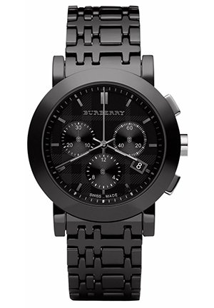 Chronograph Black Ceramic Check Bracelet 40mm