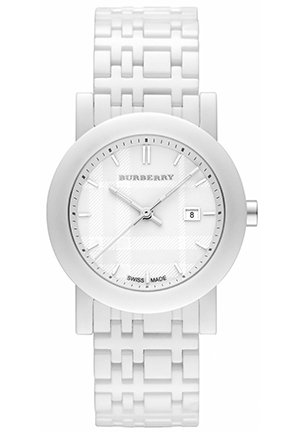 Women's Swiss White Ceramic Bracelet  34mm