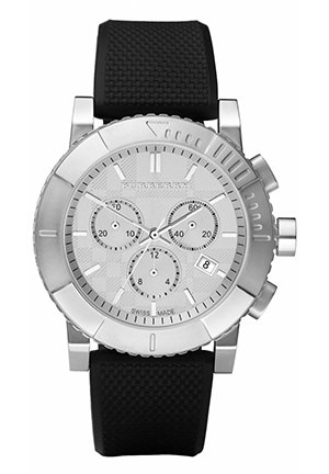 Men's Chronograph Black Rubber Strap 42mm