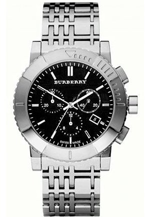 Burberry Men's Trench Chronograph Black Chronograph Dial Watch 42.5mm,