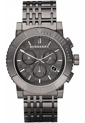 Men's Chronograph Plated Stainless Steel Bracelet 43mm