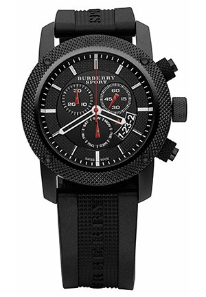 Men's Swiss Black Rubber Strap  44mm