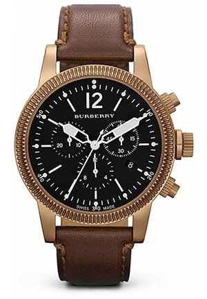 Brown Leather Strap Watch, 42mm