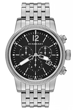 Round Chronograph Bracelet Watch, 42mm