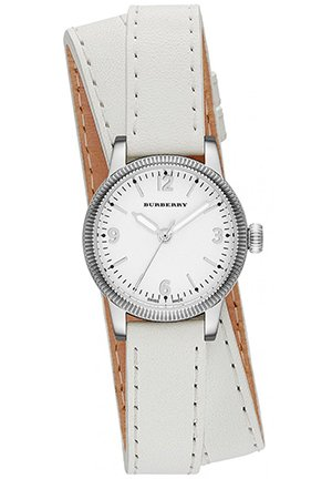 The Utilitarian White Leather Double Strap Watch 30m