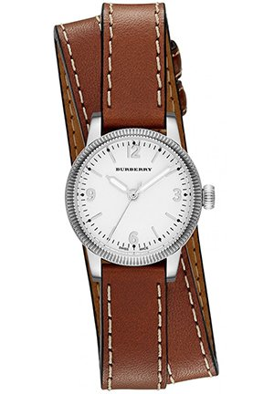 Unisex The Utilitarian Tan Leather Double Strap Watch 30mm