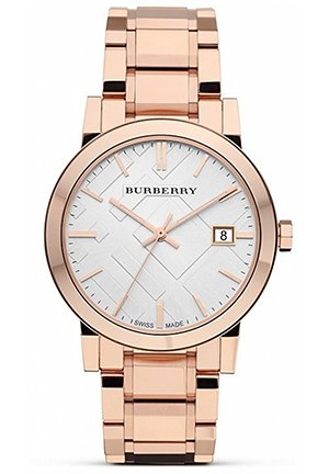 Rose Gold Stainless Steel Watch, 38mm