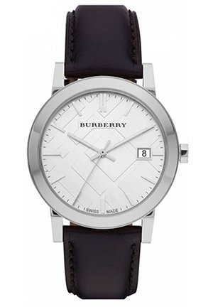 Burberry Check Stamped Round Dial Watch 38mm
