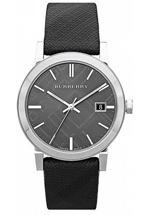 Burberry Large Check Stamped Round Dial Watch 38mm