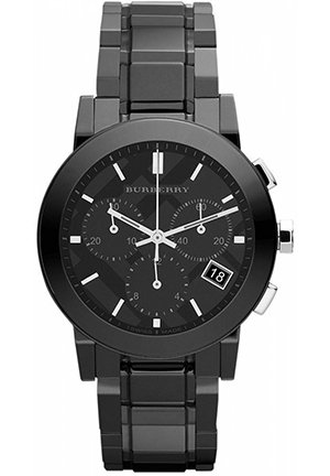 Swiss Chronograph Black Ceramic Bracelet 38mm