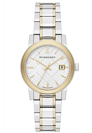 The City Silver Dial Two-tone Ladies Watch 34mm