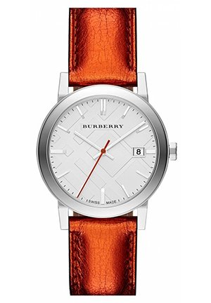 Burberry Watch City Ladies - Silver Dial Stainless Steel Case Quartz Movement  34mm