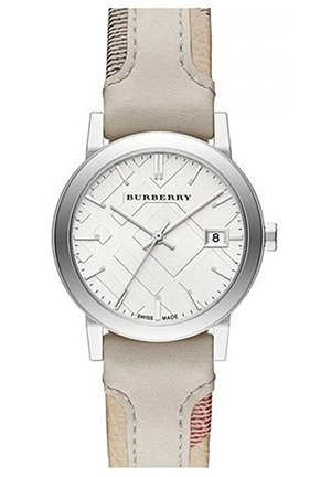 Women's Swiss The City Haymarket Check and White Leather Strap 34mm
