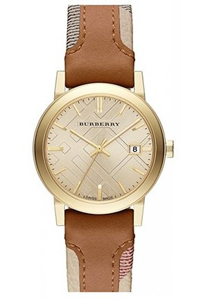 The City Haymarket Check Leather Ladies Watch 34mm