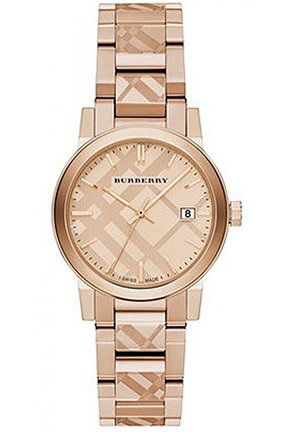 Burberry The City Women's Swiss Rose Gold Watch 34mm BU9146