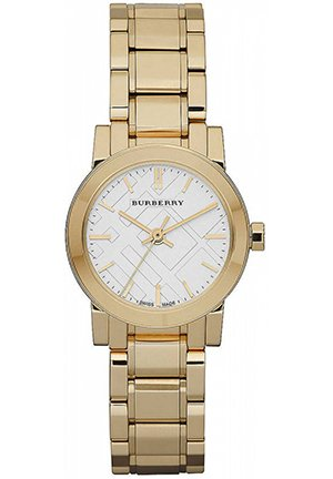 Women's Small Round Gold Watch 26mm