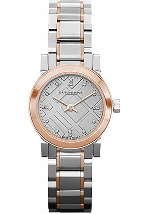 Women's Swiss Diamond Accent Two-Tone Stainless Steel Bracelet 26mm