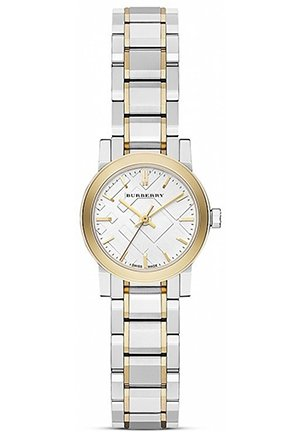 Two Tone Gold Check Bracelet Watch, 26mm